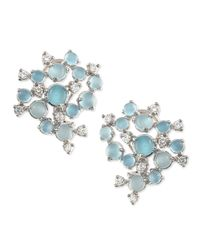 Paul Morelli - Blue Aquamarine & White Diamond Bubble Cluster Earrings - Lyst
