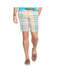 Ralph Lauren | Blue Classic-fit Linen Madras Short for Men | Lyst