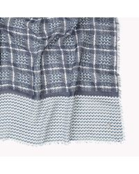 Tommy Hilfiger | Blue Cotton Modal Houndstooth Scarf for Men | Lyst