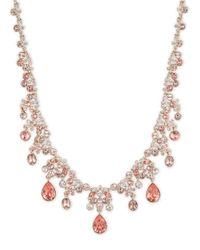 Givenchy | Pink Glitz Drama Collar Necklace, Goldtone | Lyst