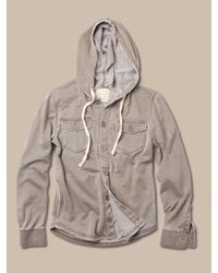 Alternative Apparel - Natural Irving Burnout Shirt Jacket for Men - Lyst