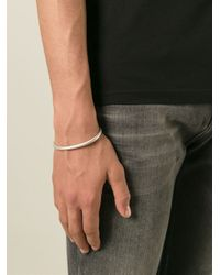 All_blues - Metallic 'Snake' Curved Open Bangle for Men - Lyst