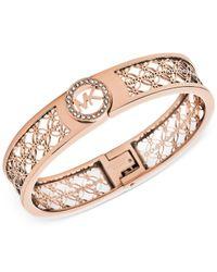 Michael Kors | Pink Open Monogram Bracelet | Lyst