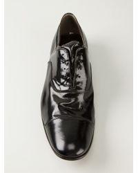 Premiata - Black Distressed Patent Oxford Shoes for Men - Lyst