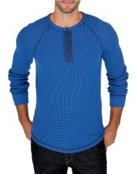 Lucky Brand | Blue Thermal Henely Shirt for Men | Lyst