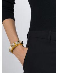 Valentino - Yellow 'rockstud' Bracelet - Lyst