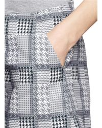 Helen Lee - Gray Rabbit Houndstooth Shorts - Lyst