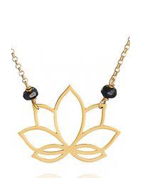 Perle De Lune Chez Carré Y. | Metallic Lotus Pendant | Lyst
