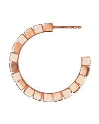 Links of London - Pink Cubist Rose Gold Vermeil Hoop Earrings - Lyst