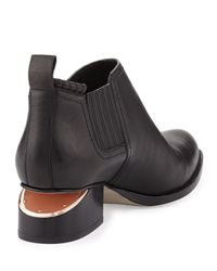 Alexander Wang - Black Kori Leather Lift-heel Ankle Boot - Lyst