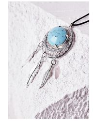 Missguided - Metallic Stone Detail Dreamcatcher Choker Silver - Lyst