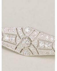 V Jewellery | Metallic Deco Streamline Bracelet | Lyst
