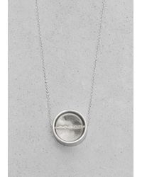 & Other Stories - Metallic Orb Pendant Necklace - Lyst