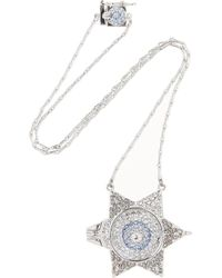 Eddie Borgo | Metallic Silvertone Crystal Necklace | Lyst