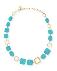 R.j. Graziano | Blue Turquoise-hue Station Necklace | Lyst