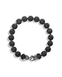 David Yurman | Black Spiritual Beads Bracelet With Diamonds, 8mm for Men | Lyst