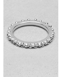 & Other Stories | Metallic Ball Stud Ring | Lyst