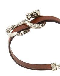 John Hardy | Brown Naga Leather Bracelet for Men | Lyst