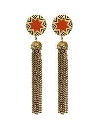 House of Harlow 1960 - Orange Sunburst Tassel Earrings - Lyst
