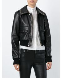 Givenchy | Black Cropped Studded Jacket | Lyst