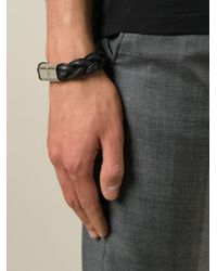 Valentino | Black Braided Bracelet for Men | Lyst