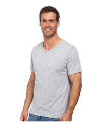 Nike | Gray Solid Futura V-neck Tee for Men | Lyst