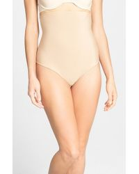Spanx - Natural High Waist Shaping Thong - Lyst