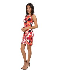 Kut From The Kloth - Red Scoop Neck Sleeveless Dress W/ Front Twist - Lyst
