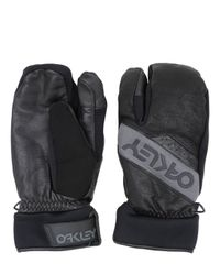 Oakley | Black Factory Leather & Nylon Trigger Mittens | Lyst
