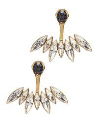 Ca&Lou | Metallic Alexa 24Kt Gold Plated Swarovski Earrings | Lyst