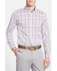 Victorinox | White 'alastair' Tailored Fit Plaid Sport Shirt for Men | Lyst