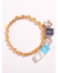 Lily Kamper | Blue Tower Block Charm Bracelet - Sold Out | Lyst