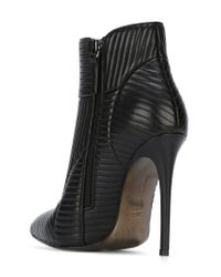 Gianni Renzi | Black Quilted Ankle Boots | Lyst