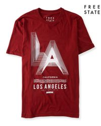 Free State | Red La Graphic T | Lyst