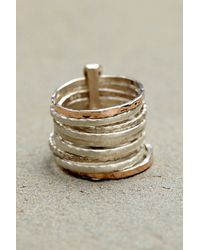 Free People | Blue Ithil Metalworks Womens Stacked Turquoise Ring | Lyst