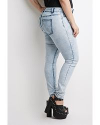 Forever 21 | Blue Plus Size Cloud Wash Jeans You've Been Added To The Waitlist | Lyst