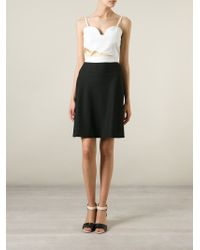 Violante Nessi | White Panelled Cropped Top | Lyst