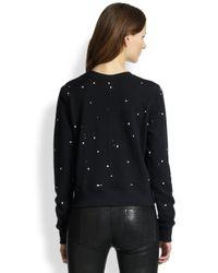 Rag & Bone - Black Splatter Paint Sweatshirt - Lyst