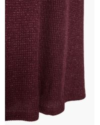 Mango - Purple Metal Ribbed Dress - Lyst