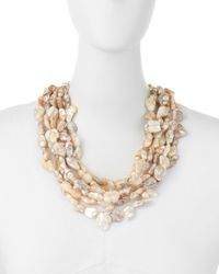 Kenneth Jay Lane - Multicolor Multi-strand Mother-of-pearl Necklace - Lyst