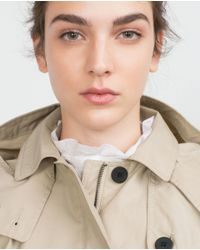 Zara | Natural Water Repellent Trench Coat | Lyst