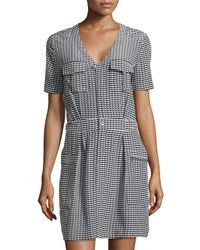 Equipment - Blue Oliver Geo-Print Shirtdress - Lyst