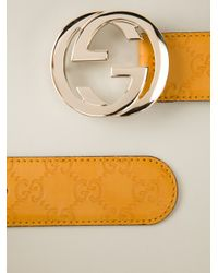 e138d9153 Gucci Logo Belt in Orange - Lyst