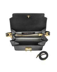 Marni - Gray Carbone Leather Mini Trunk Bag - Lyst