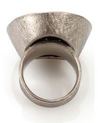 Todd Reed | Metallic Diamond Pave Circle Ring | Lyst