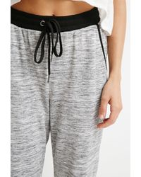 Forever 21 - Black Heathered Drawstring Joggers - Lyst