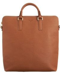 Serapian - Brown Top Zip Tote for Men - Lyst
