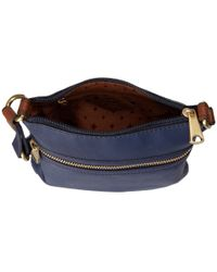 Fossil   Blue Explorer Mini Bag   Lyst