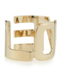 Givenchy - Metallic Brass Love Cuff Bracelet - Lyst