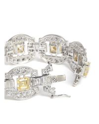 CZ by Kenneth Jay Lane - Metallic Square Cut Cubic Zirconia Bracelet - Lyst